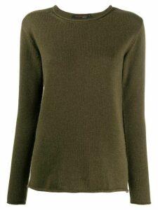 Incentive! Cashmere round neck cashmere jumper - Green