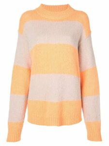 Tibi striped jumper - ORANGE