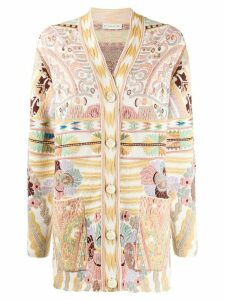 Etro abstract pattern cardigan - NEUTRALS