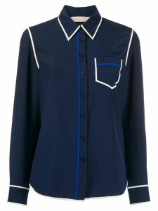 Tory Burch contrast seam shirt - Blue