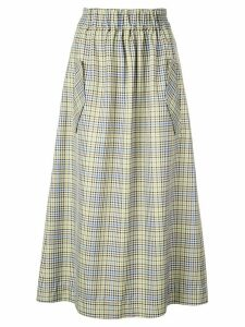 Tibi checked midi skirt - Green