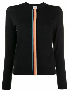 Paul Smith contrast stripe knit cardigan - Blue