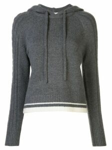DUFFY knitted cashmere hooded jumper - Grey