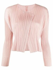 Pleats Please Issey Miyake pleated cardigan - PINK