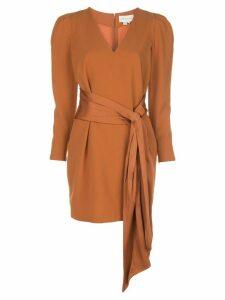 Sachin & Babi draped-detail mini dress - Brown