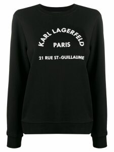 Karl Lagerfeld address logo sweatshirt - Black