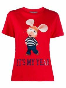 Alberta Ferretti Topo Gigio print T-shirt - Red