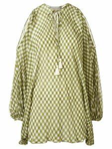 Silvia Tcherassi Geva gingham print blouse - Green