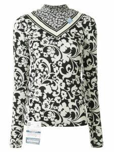 Maison Mihara Yasuhiro floral print blouse - White