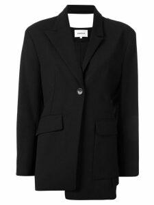 Enföld fitted asymmetric blazer - Black