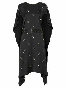 Burberry embellished asymmetric dress - Black