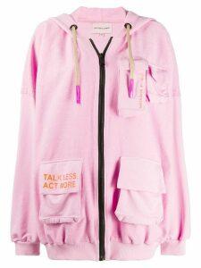 Natasha Zinko hooded jogging jacket - PINK