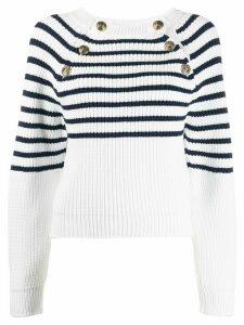 Philosophy Di Lorenzo Serafini cable knit button down jumper - White