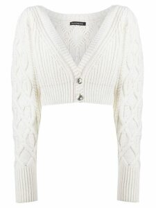 Wandering cable knit cardigan - NEUTRALS