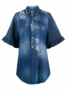 Dsquared2 oversized denim shirt - Blue