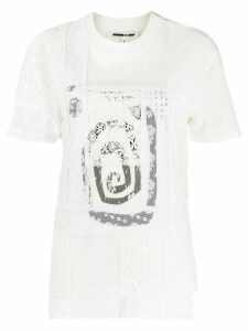 McQ Alexander McQueen lace panel cotton T-shirt - White