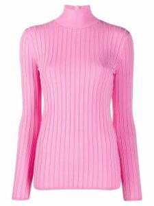 Nina Ricci ribbed fitted jumper - PINK