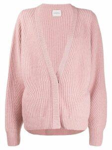Le Kasha Ecosse oversized cashmere cardigan - PINK