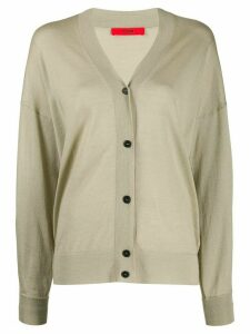 Roberto Collina oversized V-neck cardigan - NEUTRALS