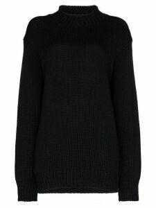 Zilver oversized waffle-knit jumper - Blue