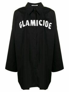 Acne Studios logo print shirt - Black