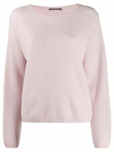 Luisa Cerano ribbed knit jumper - PINK