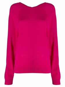 P.A.R.O.S.H. knitted boat neck top - PINK