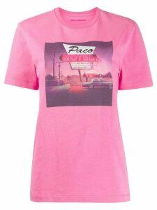 Paco Rabanne short sleeve Las Vegas T-shirt - PINK