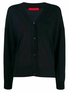Roberto Collina oversized V-neck cardigan - Blue