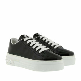 Miu Miu Sneakers - Crystal Sneakers Leather Black - black - Sneakers for ladies