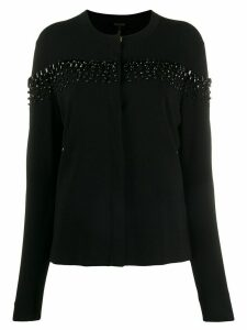 Escada faux-gem studded cardigan - Black