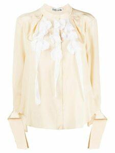 Teija Paita silk blouse - NEUTRALS