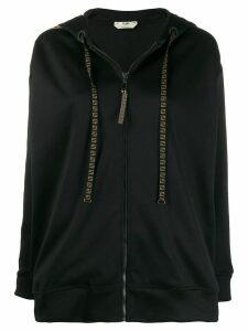 Fendi FF motif zipped hoodie - Black