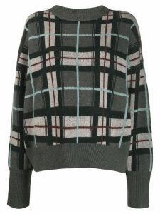 Le Kasha Evreux checked cashmere jumper - Green