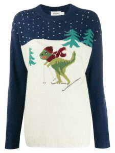 Coach long sleeve skiing dinosaur jumper - Blue