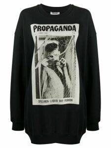 Acne Studios magazine-print sweatshirt - Black