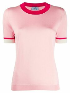Prada contrast trim knitted top - PINK
