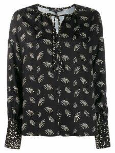 Luisa Cerano floral print blouse - Black