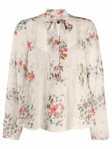 Red Valentino floral print blouse - NEUTRALS