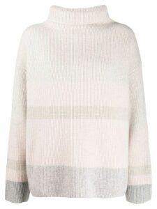 Le Kasha Kinsale striped cashmere jumper - NEUTRALS