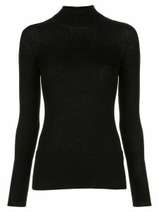 Vince long sleeve funnel neck sweatshirt - Black