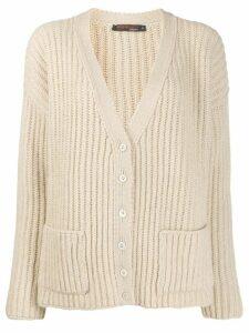 Incentive! Cashmere V-neck cashmere cardigan - NEUTRALS