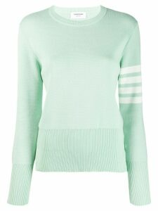 Thom Browne 4-Bar Classic Crew Neck Jumper - Green