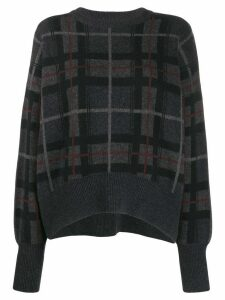 Le Kasha Evreux checked cashmere jumper - Black
