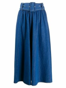 MSGM A-line denim midi skirt - Blue