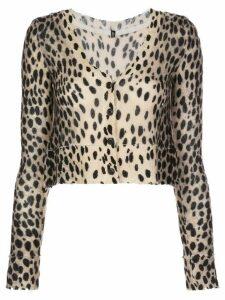 R13 cashmere cropped cardigan - NEUTRALS