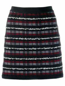 Thom Browne Double Tattersal Tweed Mini Skirt - Blue