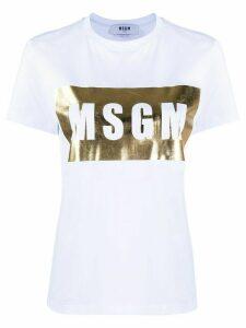 MSGM logo print crew neck T-shirt - White
