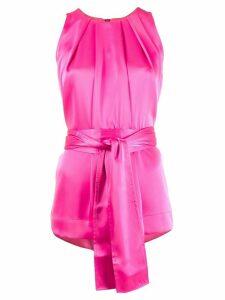 Escada pleated style tie waist blouse - PINK