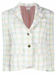 Thom Browne ribbon tweed sport coat - White